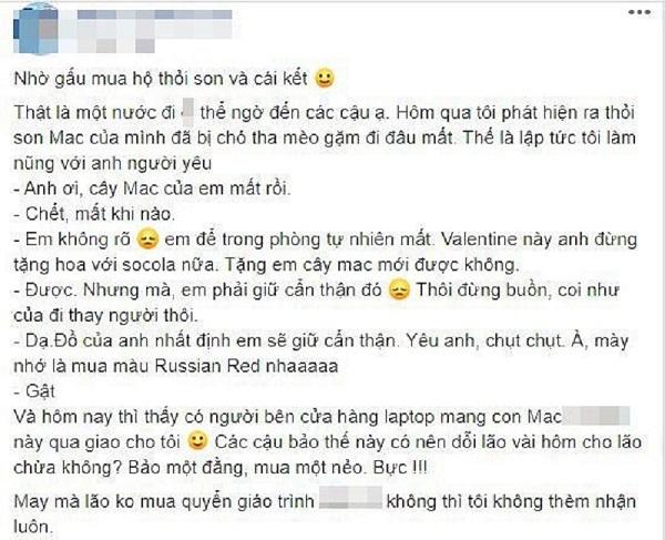 """Đòi người yêu mua thỏi son MAC, cô gái """"sốc"""" khi món hàng được giao đến - Ảnh 1"""