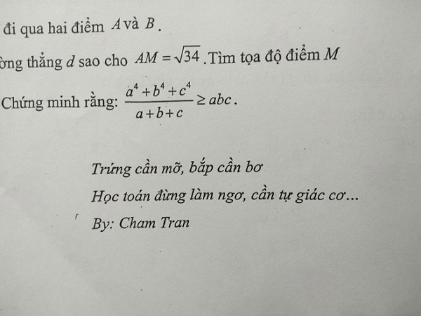 """Giáo viên toán bắt trend """"trứng rán bắp bơ"""", học sinh """"đứng hình"""" vì lời nhắn dễ thương - Ảnh 1"""