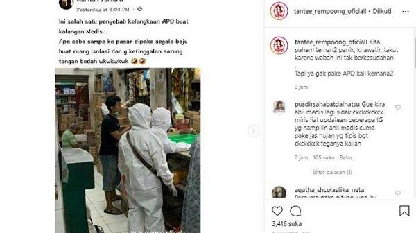 Dân mạng phẫn nộ trước cảnh 2 người dân mặc đồ bảo hộ đi siêu thị trong khi bác sĩ thiếu thốn - Ảnh 1