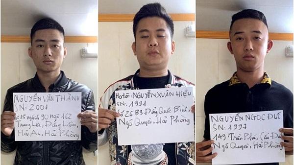 """Tạm giữ 3 """"quái xế"""" đua xe gây náo loạn đường phố Hải Phòng trong đêm - Ảnh 1"""