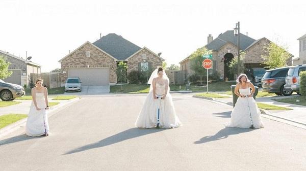 """Ở nhà quá chán, nhiếp ảnh gia rủ hàng xóm thực hiện bộ ảnh cưới """"để đời"""" - Ảnh 3"""