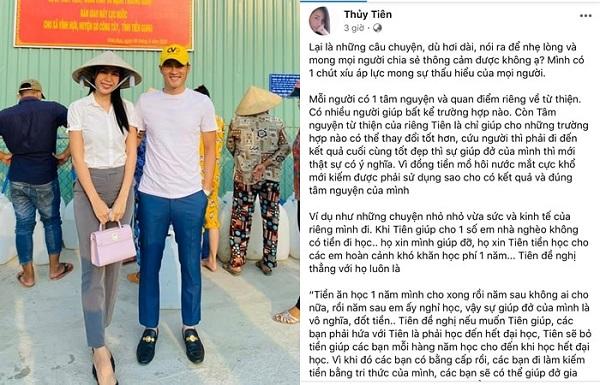Để lộ tài khoản chỉ còn 300 nghìn đồng, Thủy Tiên trải lòng về chuyện làm từ thiện - Ảnh 2