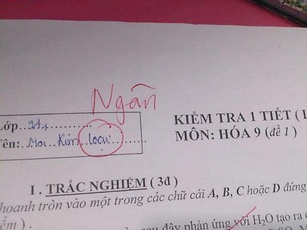 Quá căng thẳng, nữ sinh viết sai tên mình trong bài kiểm tra, nhưng ý nghĩa mới là điều bất ngờ - Ảnh 1
