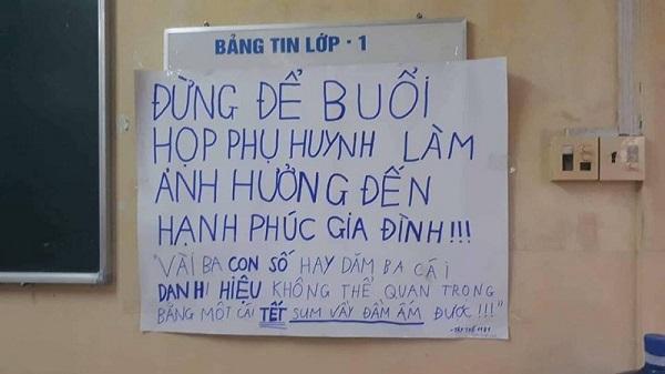 """Sợ """"hạnh phúc gia đình tan vỡ"""", học trò để sẵn tấm bảng nhắn nhủ dễ thương ngay trước buổi họp phụ huynh - Ảnh 5"""