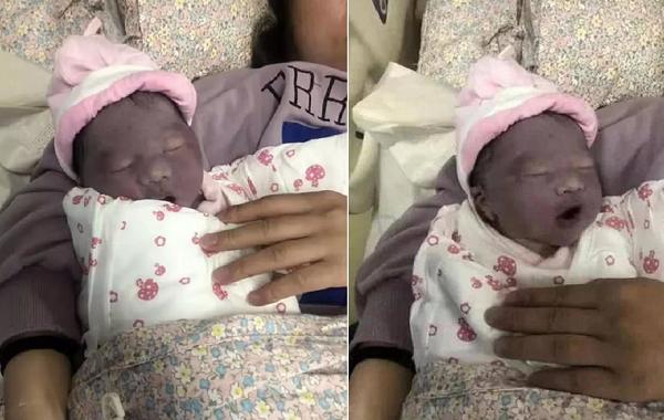 Mẹ phát khóc khi nhìn con mới sinh tím như củ khoai môn, ngoại hình sau 3 tháng mới là điều bất ngờ - Ảnh 1