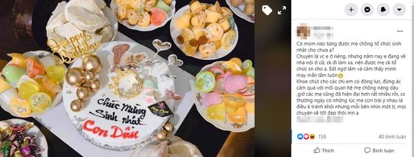 Nàng dâu khoe mẹ chồng tặng bánh sinh nhật làm hội chị em người thì ước ao, người thì tủi phận - Ảnh 1