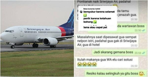 Nói dối vợ để đi chơi với bồ, anh chồng không ngờ trở thành 'nạn nhân' bất đắc dĩ trong vụ rơi máy bay - Ảnh 1