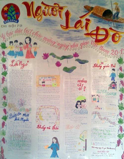 Những mẫu báo tường độc đáo và ý nghĩa nhất tri ân thầy cô ngày nhà giáo Việt Nam 20/11 - Ảnh 3