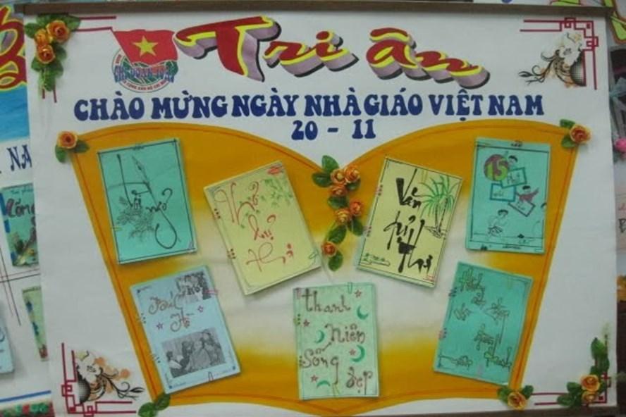 Những mẫu báo tường độc đáo và ý nghĩa nhất tri ân thầy cô ngày nhà giáo Việt Nam 20/11 - Ảnh 6