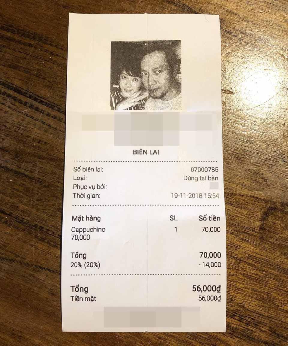 Lý do bất ngờ khiến Đinh Tiến Đạt in cả ảnh vợ sắp cưới lên hóa đơn quán cà phê - Ảnh 2