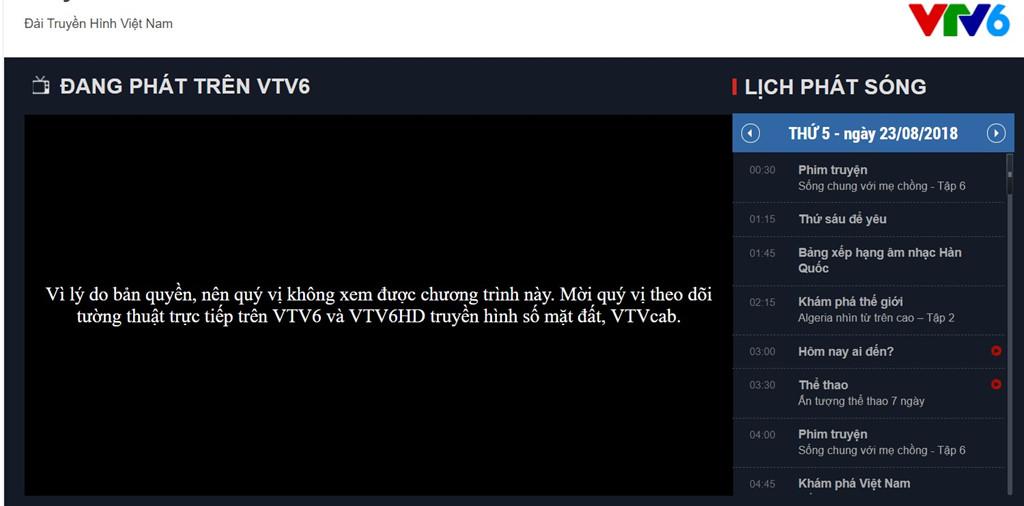 VTV6 chèn quảng cáo, logo khi chưa được VOV cấp sóng trận Việt Nam - Bahrain - Ảnh 2
