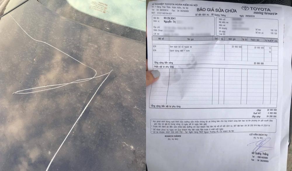 Người phụ nữ cào xước xe Camry để trả đũa: Có dấu hiệu phạm tội hình sự - Ảnh 1