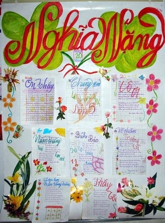 Cách làm báo tường đơn giản nhưng vẫn ấn tượng chào mừng ngày Nhà giáo Việt Nam 20/11  - Ảnh 2