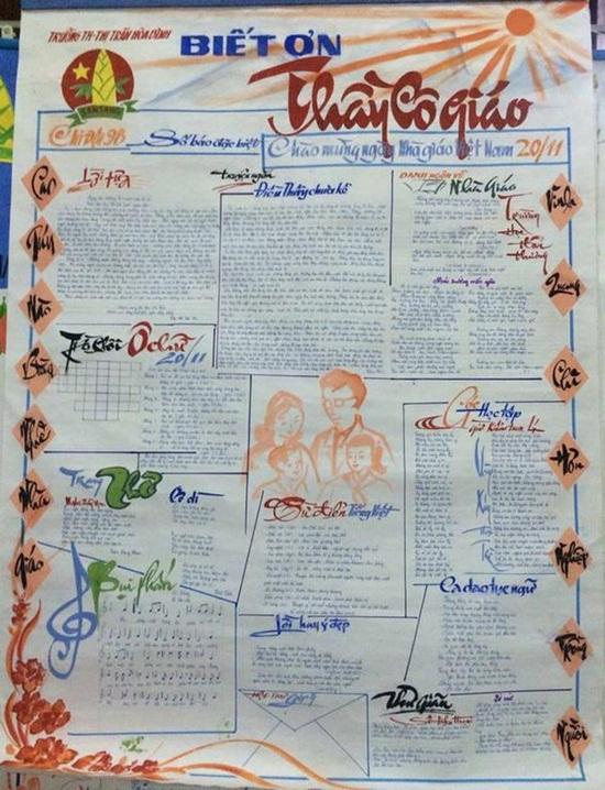 Cách làm báo tường đơn giản nhưng vẫn ấn tượng chào mừng ngày Nhà giáo Việt Nam 20/11  - Ảnh 5