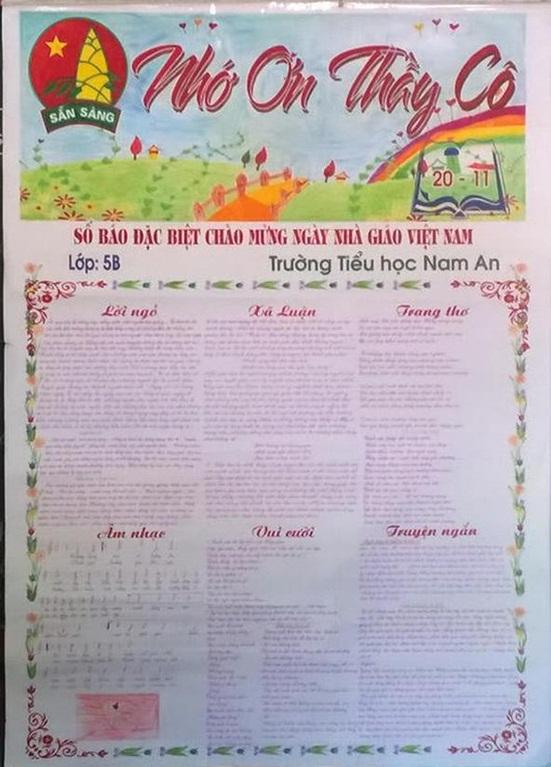 Top 12 mẫu báo tường ngày Nhà giáo Việt Nam 20/11 đơn giản, gấp đến mấy cũng làm kịp - Ảnh 2