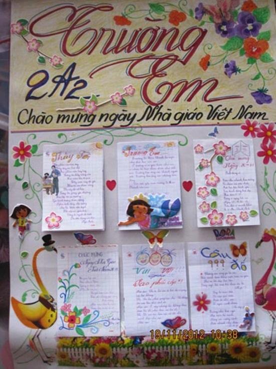 Top 12 mẫu báo tường ngày Nhà giáo Việt Nam 20/11 đơn giản, gấp đến mấy cũng làm kịp - Ảnh 6