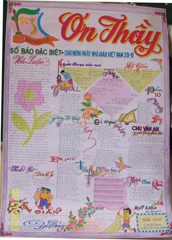 Top 12 mẫu báo tường ngày Nhà giáo Việt Nam 20/11 đơn giản, gấp đến mấy cũng làm kịp - Ảnh 7