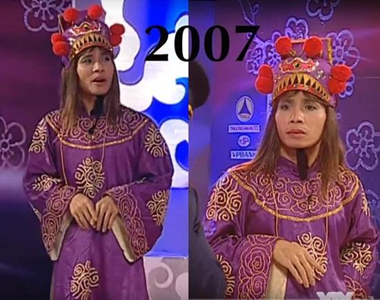 """Nhìn lại ngoại hình thay đổi đến ngỡ ngàng của """"cô Đẩu"""" trong 16 mùa Táo quân - Ảnh 5"""