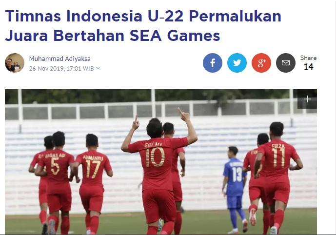 Đội tuyển U22 Indonesia làm bẽ mặt các nhà đương kim vô địch SEA Games - Ảnh 1