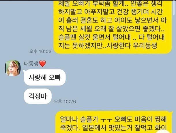 Hé lộ dòng tin nhắn anh trai Goo Hara cầu xin em gái sống tiếp - Ảnh 1