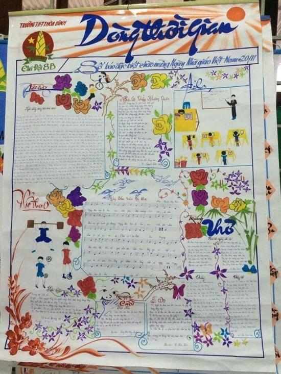 Top 10 mẫu báo tường đẹp độc lạ tri ân các thầy cô ngày 20/11 - Ảnh 9