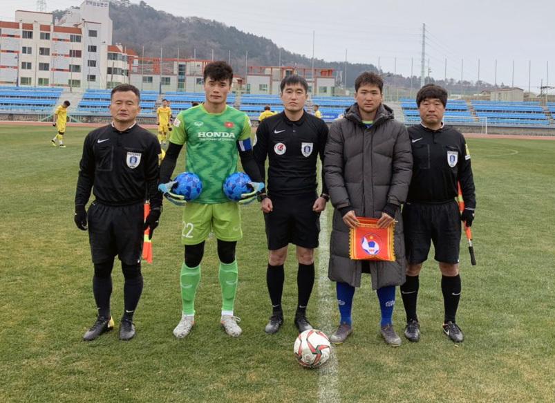 Thủ môn Bùi Tiến Dũng làm đội trưởng, U23 Việt Nam thắng đội hạng 3 Hàn Quốc - Ảnh 1