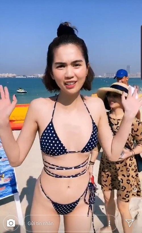 """Ngọc Trinh thả dáng trong bộ bikini """"tí hon"""" khiến dân tình """"đỏ mặt"""" - Ảnh 4"""