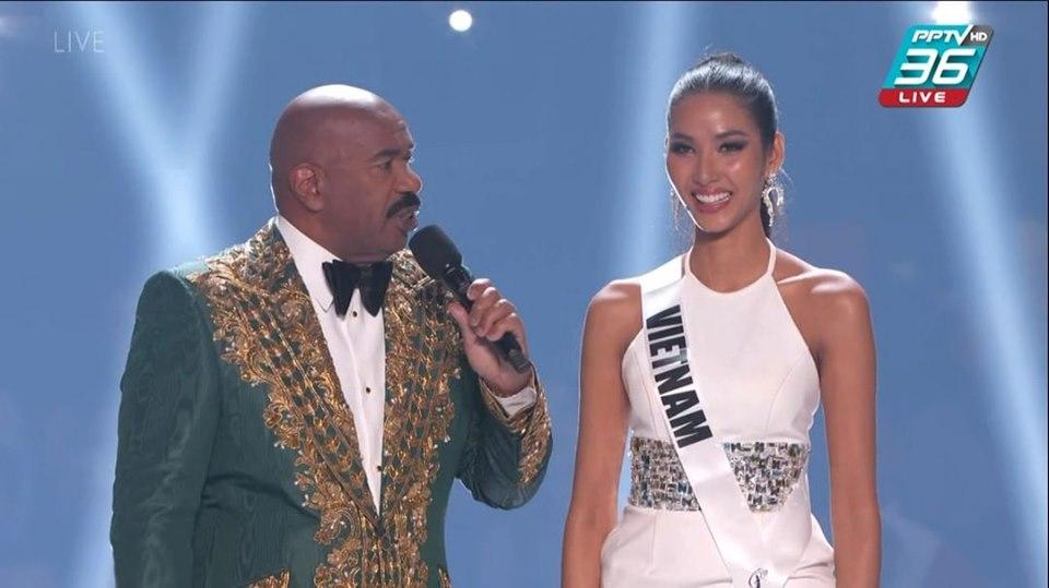 Nữ hoàng ca dao tục ngữ Hoàng Thùy trượt top 10 Miss Universe đầy tiếc nuối - Ảnh 1