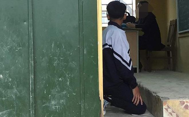 Lan truyền chóng mặt hình ảnh học sinh nghi bị cô giáo chủ nhiệm bắt quỳ gối trong lớp học - Ảnh 1
