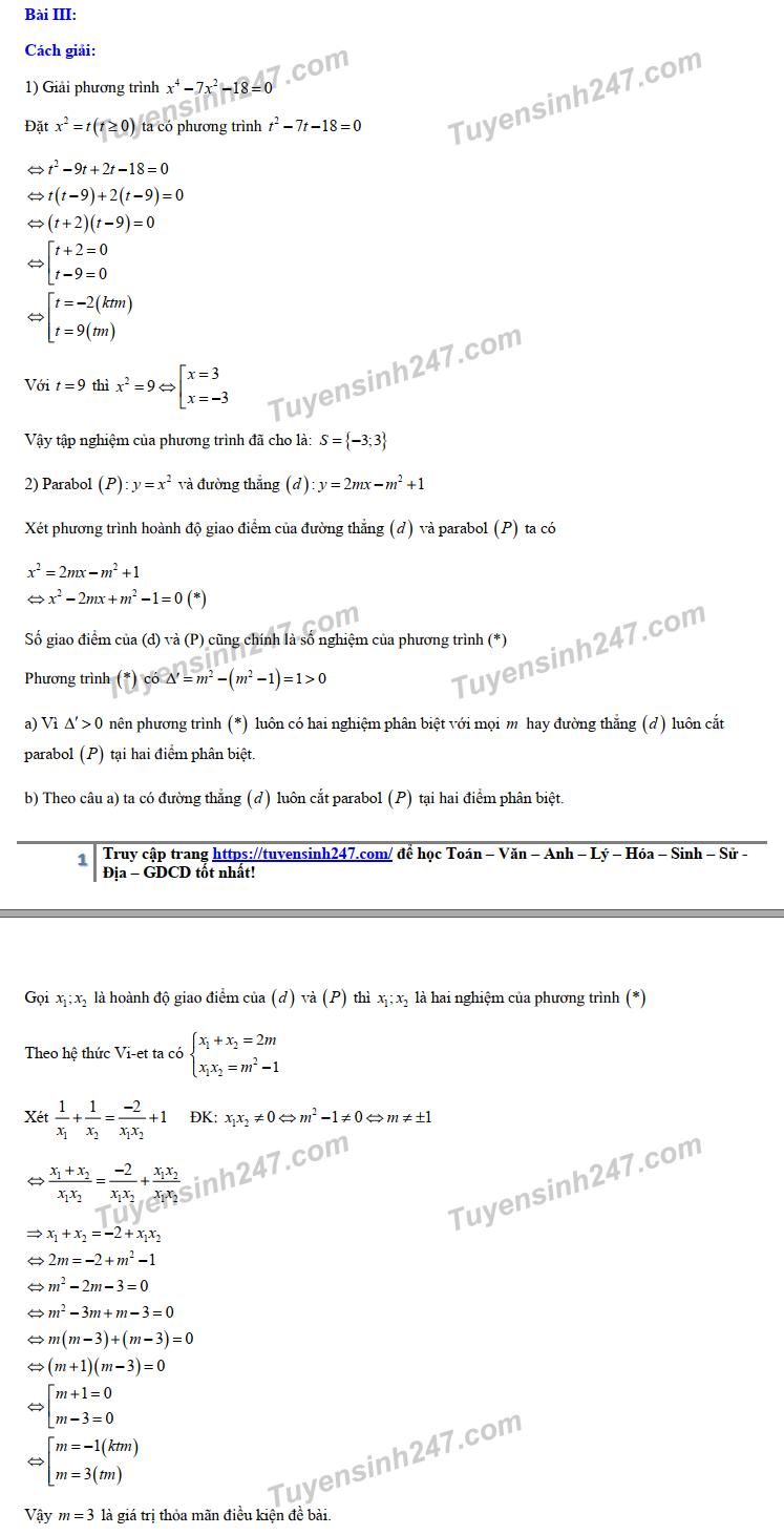 Đáp án, đề thi môn Toán vào lớp 10 THPT tại Hà Nội chuẩn và chính xác nhất - Ảnh 4