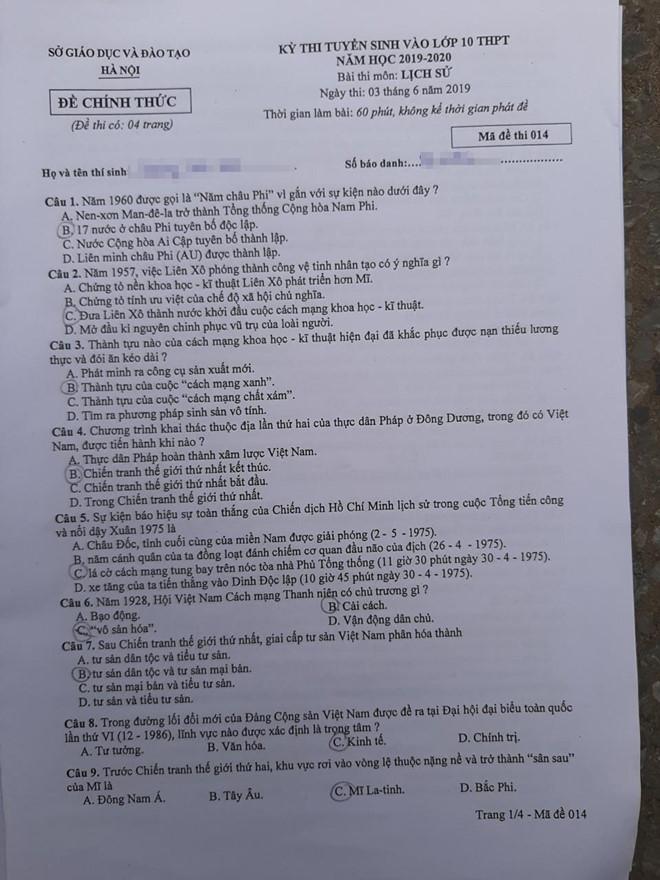 Thí sinh Hà Nội thở phào nhẹ nhõm vì đề thi Sử vừa sức, dễ đạt điểm 9,10 - Ảnh 2
