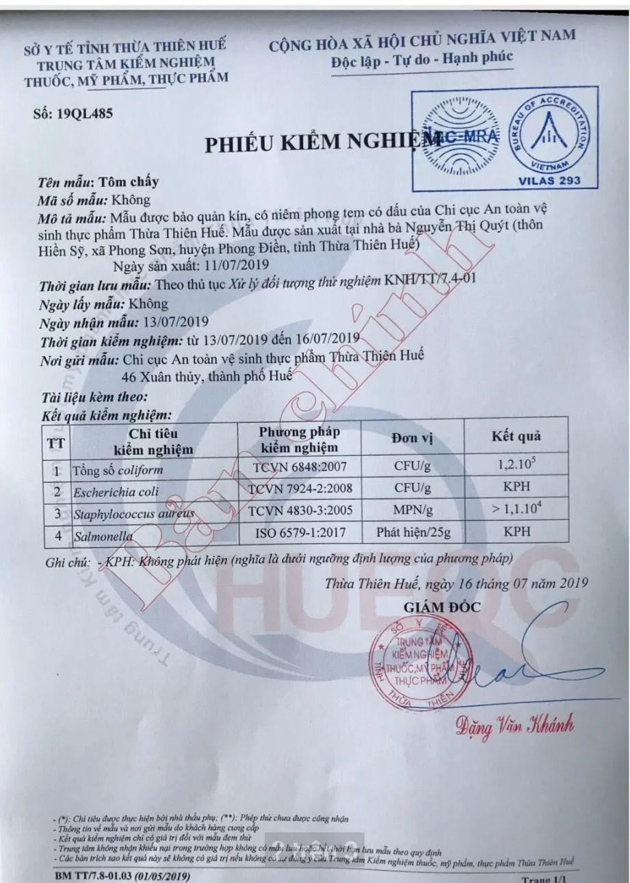 Bất ngờ kết quả xét nghiệm mẫu thức ăn trong vụ ngộ độc tập thể sau tiệc đám cưới ở Thừa Thiên-Huế - Ảnh 1