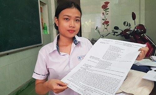 Nữ sinh làm bài thi THPT quốc gia trên khổ giấy A3 bất ngờ nhận món quà đặc biệt - Ảnh 1