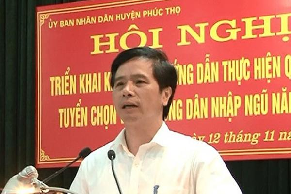 Ông Hoàng Mạnh Phú bị bãi nhiệm chức danh Chủ tịch HĐND huyện Phúc Thọ  - Ảnh 1