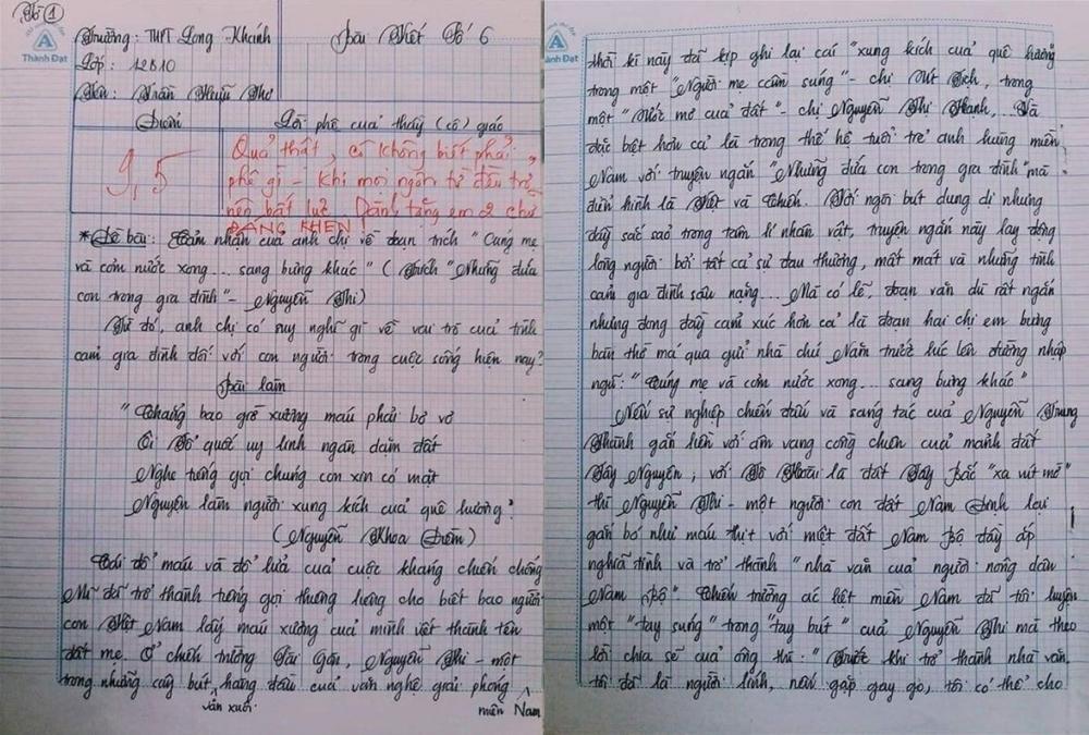 Choáng với bài văn 18 trang của nam sinh khiến cô giáo cũng không nói nên lời - Ảnh 1