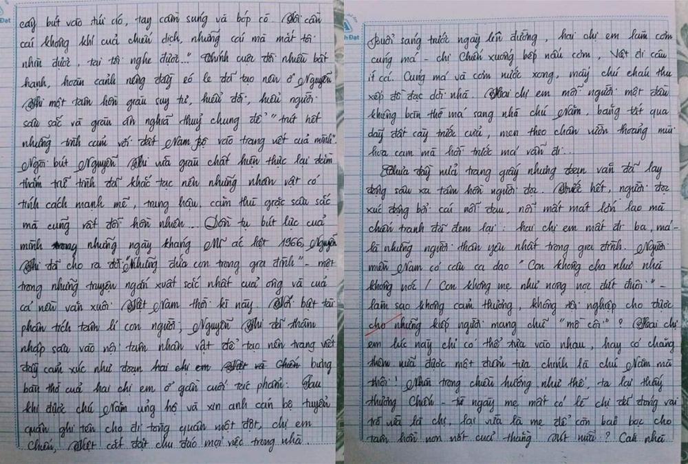 Choáng với bài văn 18 trang của nam sinh khiến cô giáo cũng không nói nên lời - Ảnh 2