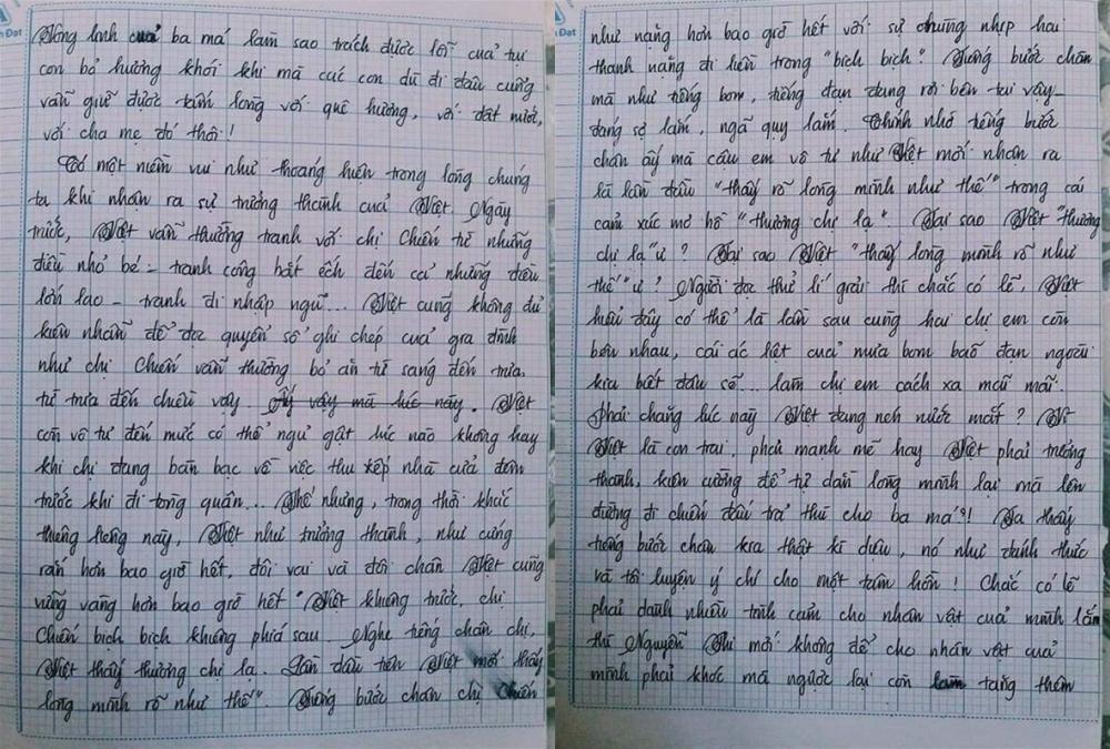 Choáng với bài văn 18 trang của nam sinh khiến cô giáo cũng không nói nên lời - Ảnh 4