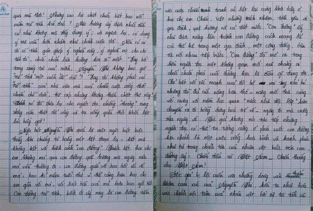 Choáng với bài văn 18 trang của nam sinh khiến cô giáo cũng không nói nên lời - Ảnh 6