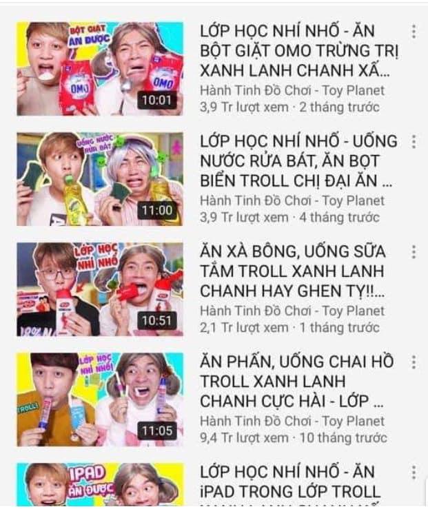 Phẫn nộ kênh Youtube xúi trẻ em ăn xà bông, sữa tắm - Ảnh 2
