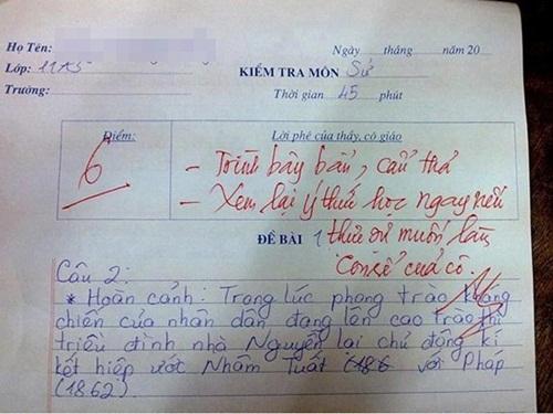 """Làm bài kiểm tra chữ xấu hơn gà bới, nữ sinh nhận lời phê """"bá đạo"""" từ thầy giáo - Ảnh 3"""