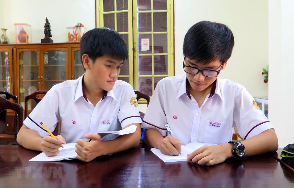 Cặp song sinh nổi tiếng trường Chuyên Quốc học Huế cùng đoạt giải nhất Vật lý quốc gia - Ảnh 1