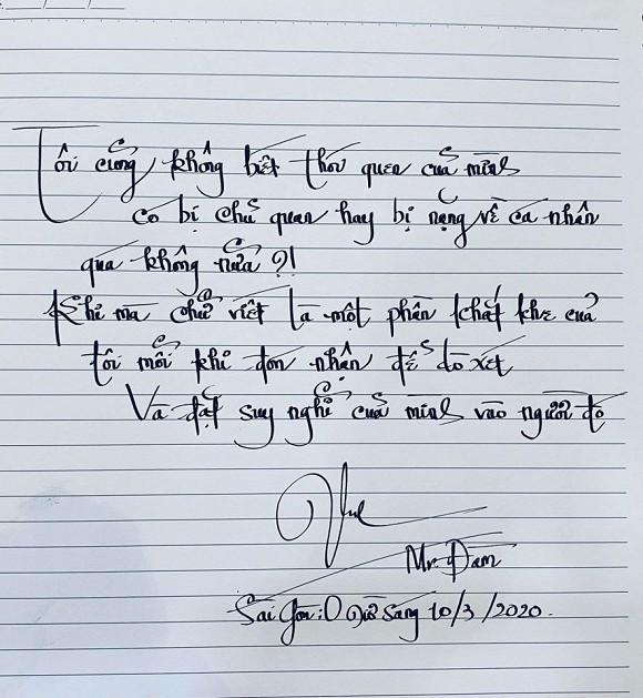 Nghệ sĩ xuýt xoa, fan trầm trồ trước chữ viết tay đẹp hơn cả đánh máy của Đàm Vĩnh Hưng - Ảnh 1