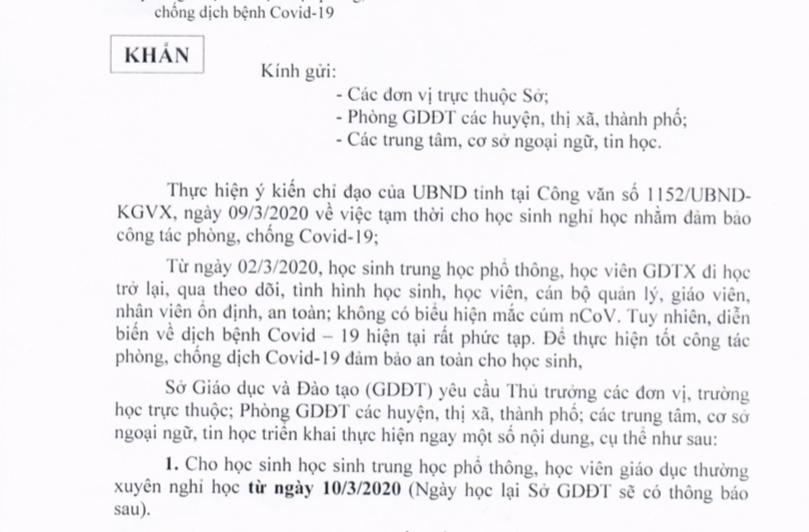 Phú Yên thông báo khẩn cho học sinh THPT nghỉ học ngay trong đêm - Ảnh 1