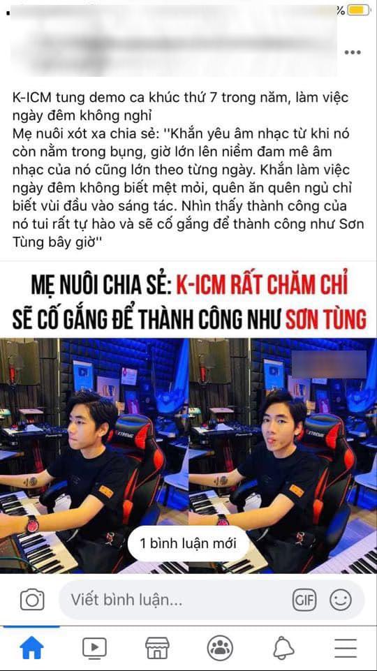 Mẹ nuôi K-ICM gay gắt lên tiếng về bài viết so sánh con trai với Sơn Tùng - Ảnh 2