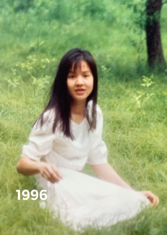 Ngỡ ngàng nhan sắc thời trẻ cách đây 24 năm của BTV Diễm Quỳnh - Ảnh 1