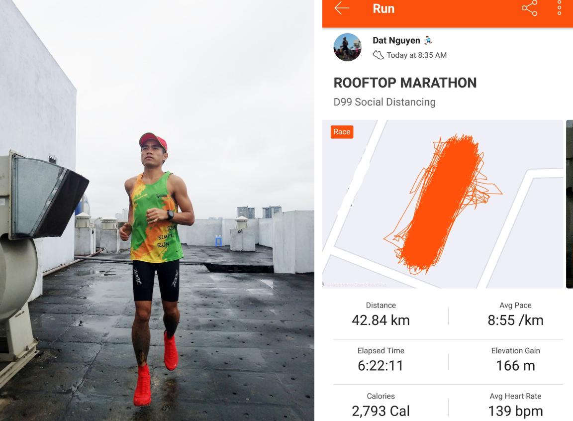 Điều ít biết về người Việt đầu tiên chạy marathon hơn 42 km trên sân thượng chung cư - Ảnh 1