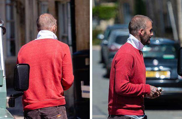 Tượng đài nhan sắc David Beckham gây sốc với mái tóc lưa thưa như sắp hói - Ảnh 2