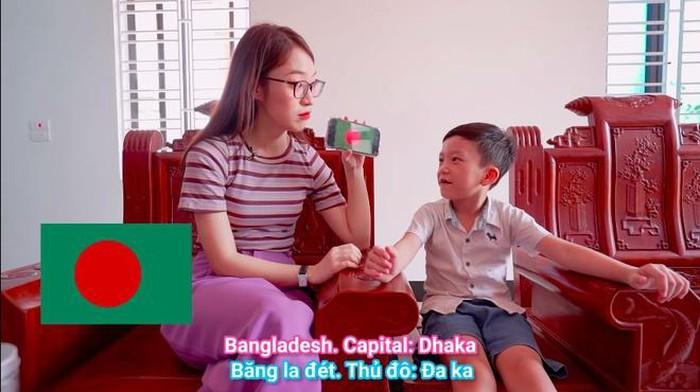 Hotgirl biết 7 thứ tiếng Khánh Vy thử tài nói tiếng Anh của cậu bé thần đồng 6 tuổi Quang Bình - Ảnh 1