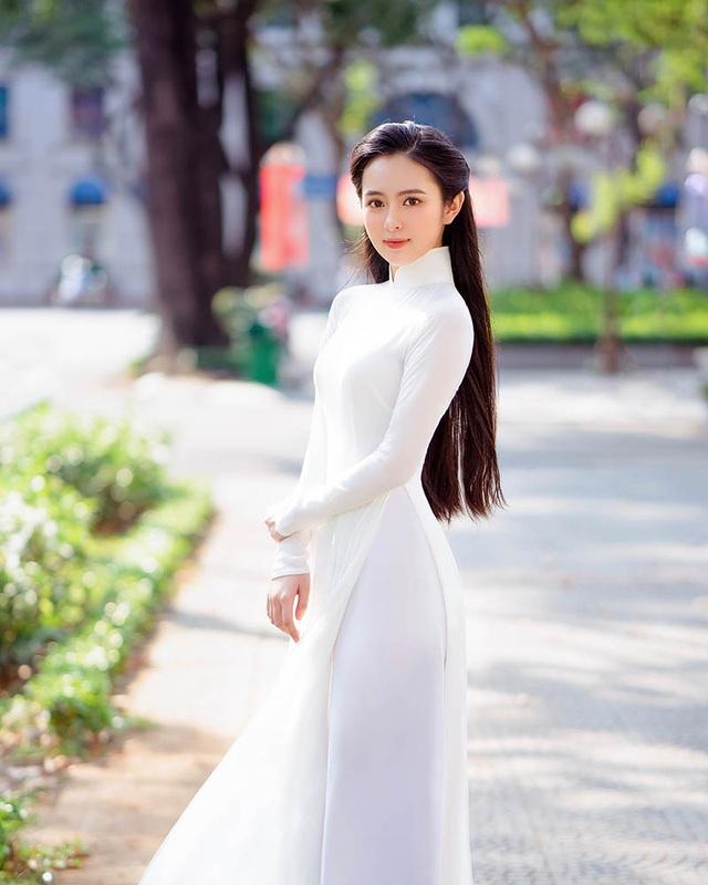 """Vẻ đẹp trong trẻo, đậm nét Á Đông của hoa khôi đại học Tôn Đức Thắng """"đốn tim"""" dân mạng - Ảnh 1"""