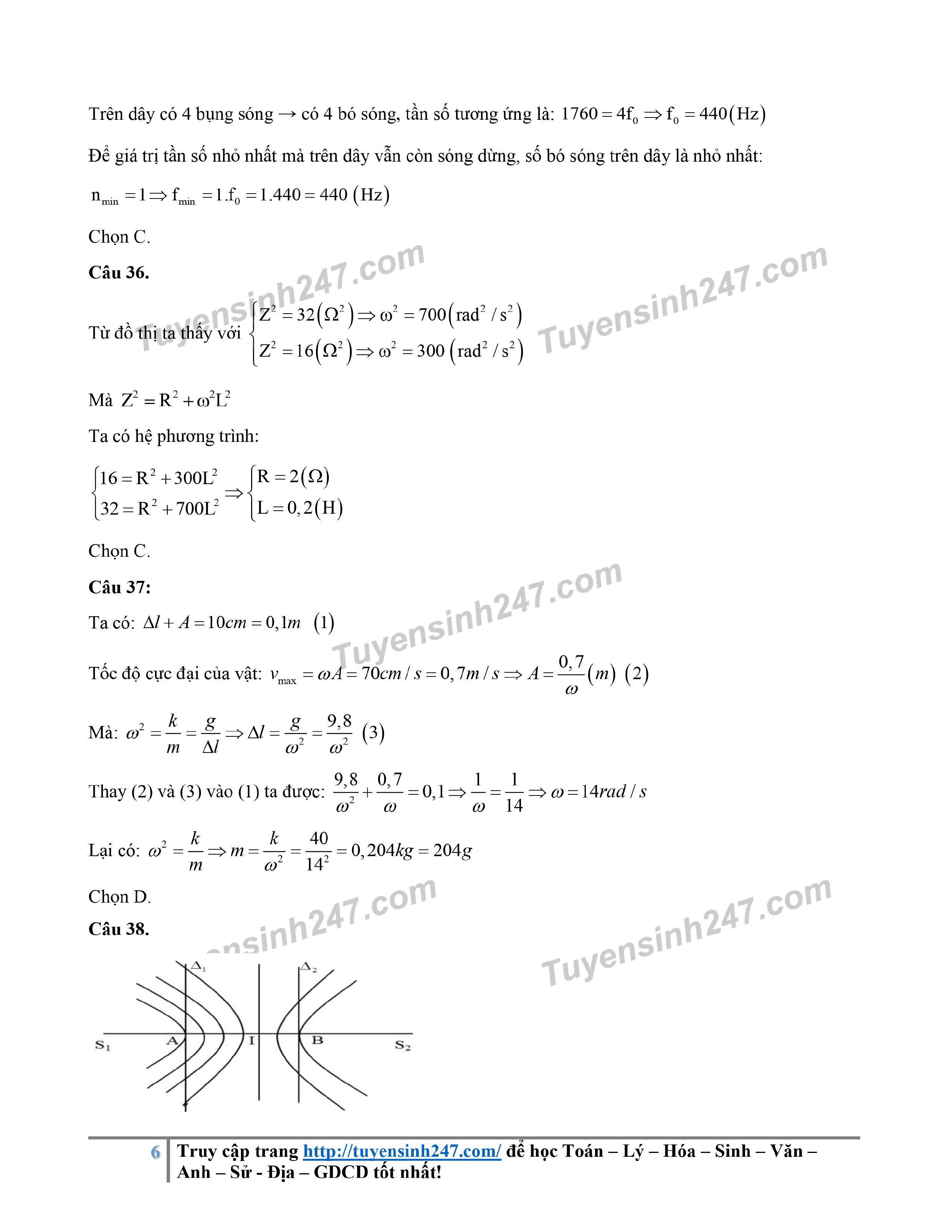 Đáp án gợi ý đề thi môn Vật lý kỳ thi tốt nghiệp THPT 2020 - Ảnh 6